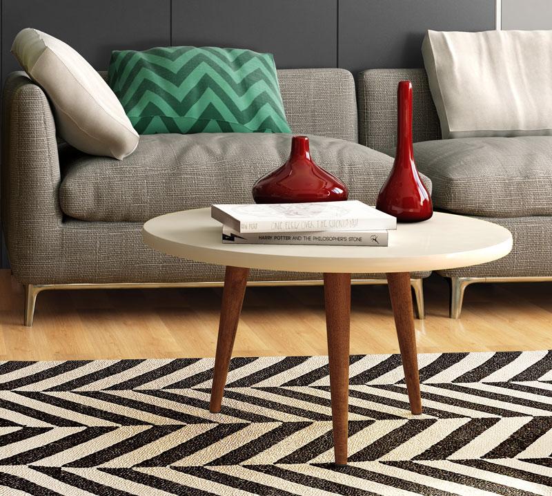 Mesa de Centro Legs Off White - Patrimar Móveis  - MoveisAqui - Loja de móveis online!