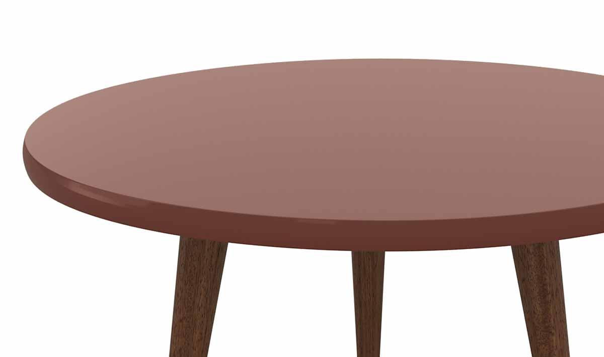 Mesa de Centro Legs Terracota - Patrimar Móveis