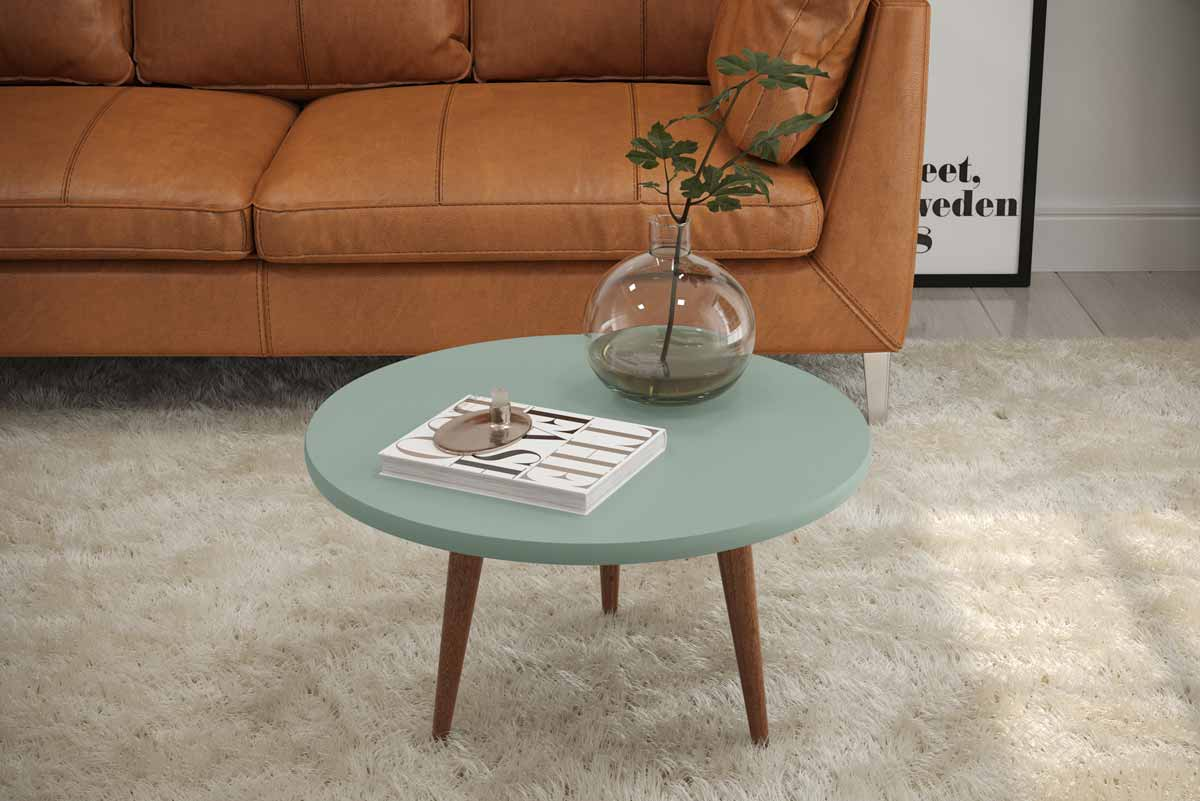 Mesa de Centro Legs Verde Bellagio - Patrimar Móveis