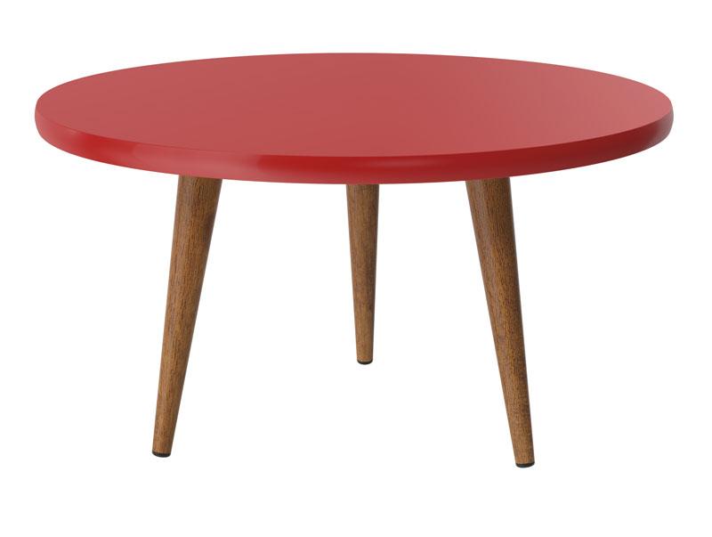 Mesa de Centro Legs Vermelho - Patrimar Móveis  - MoveisAqui - Loja de móveis online!