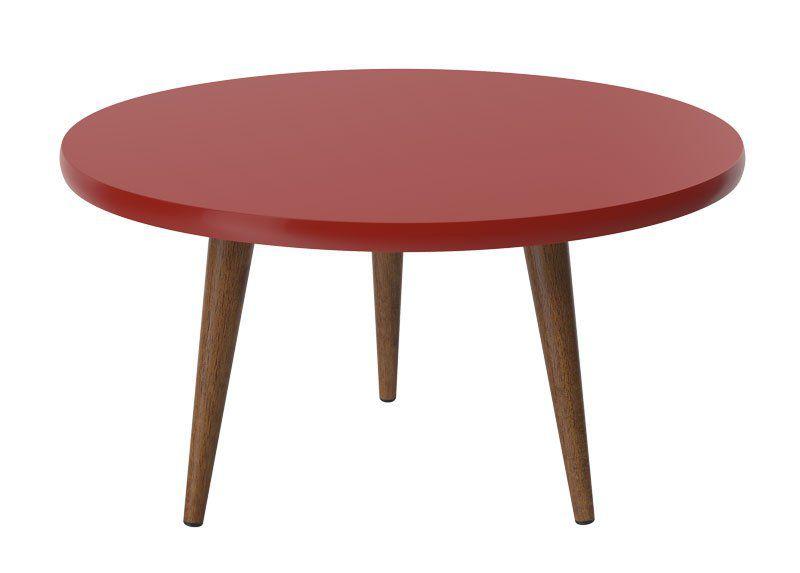 Mesa de Centro Legs Vermelho - Patrimar Móveis
