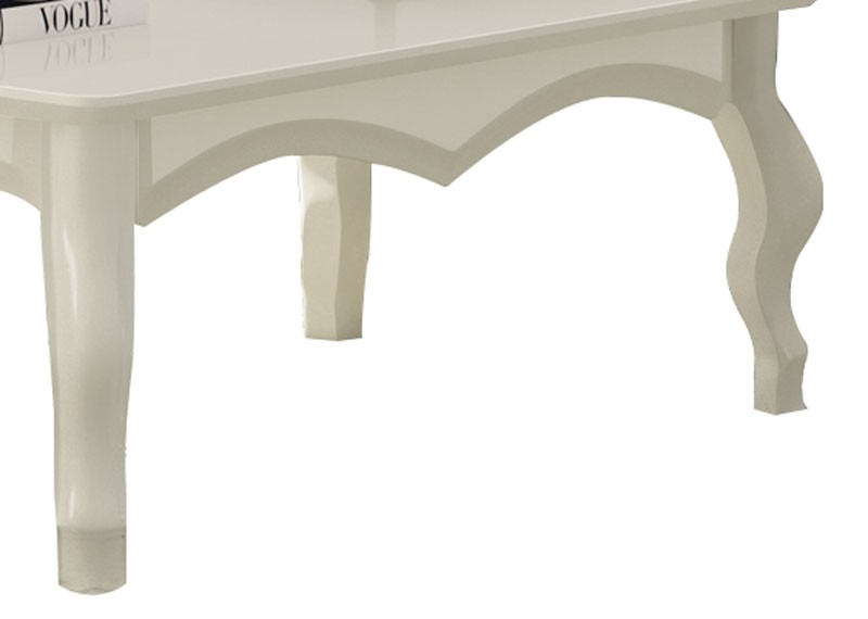 Mesa de Centro Luis XV Off White - Edn Moveis