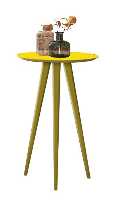 Mesa Lateral Lunis Amarelo - Edn Móveis