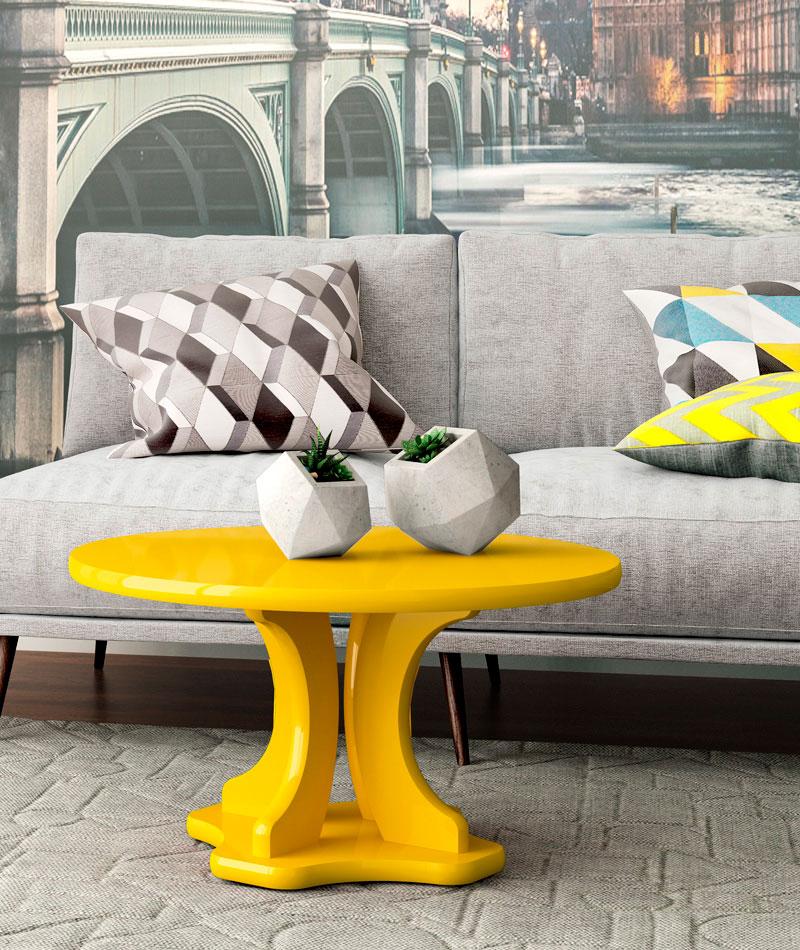 Mesa de Centro Mariana Amarelo - Patrimar Móveis