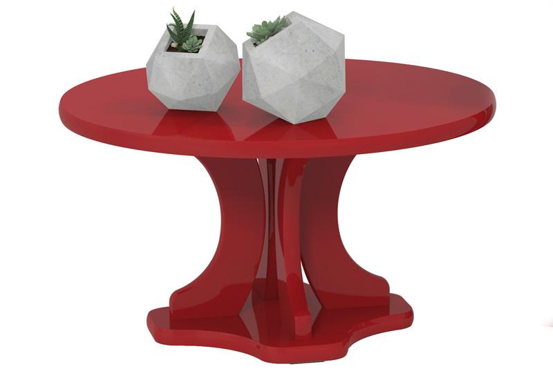 Mesa de Centro Mariana Vermelho - Patrimar Móveis  - MoveisAqui - Loja de móveis online!