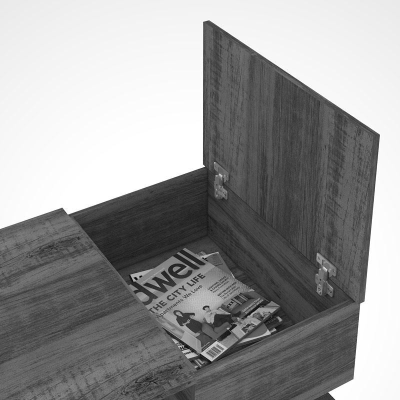 Mesa de Centro Petra Avelã - Mirarack  - MoveisAqui - Loja de móveis online!