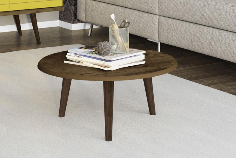 Mesa de Centro Retrô Brilhante Madeira Rústica - Móveis Bechara  - MoveisAqui - Loja de móveis online!