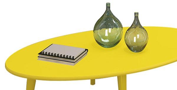 Mesa de Centro Sandy Amarelo - Edn Moveis  - MoveisAqui - Loja de móveis online!