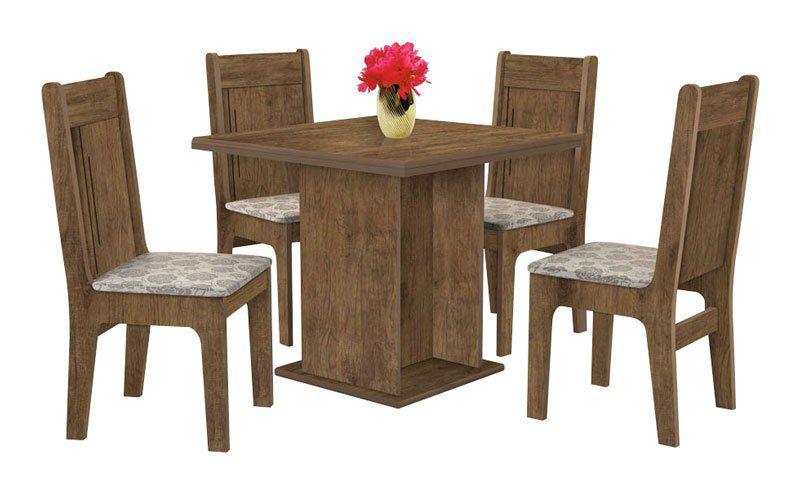 Mesa de Jantar com 4 Cadeiras Jade Jequitibá - J&A Móveis