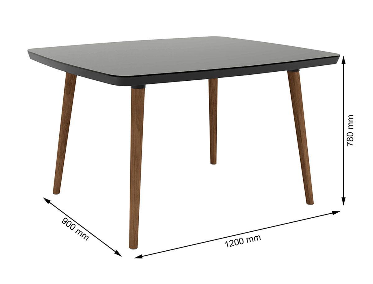 Mesa de Jantar com 4 Cadeiras Jade Pés Palito Black com Pena Caramelo - RV Móveis