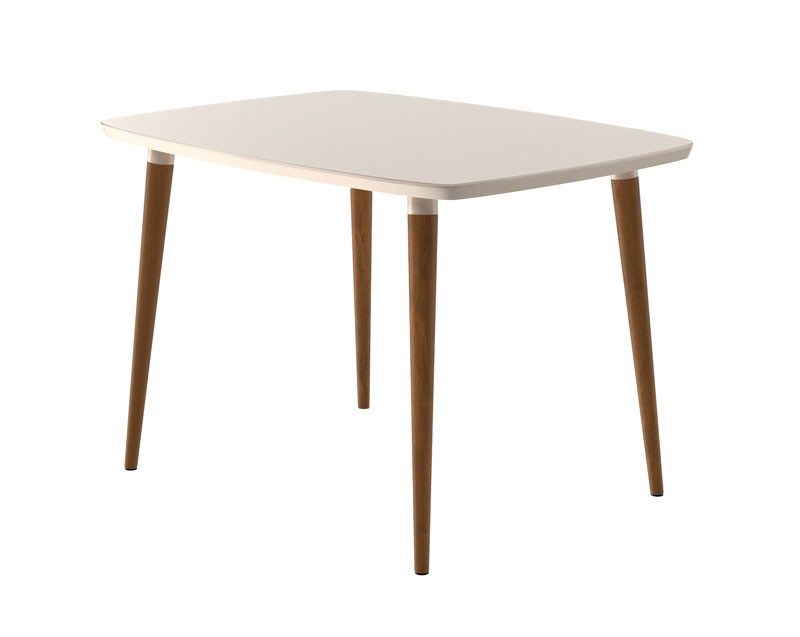 Mesa de Jantar com 4 Cadeiras Jade Off White com Naturale Cinza - RV Móveis  - MoveisAqui - Loja de móveis online!
