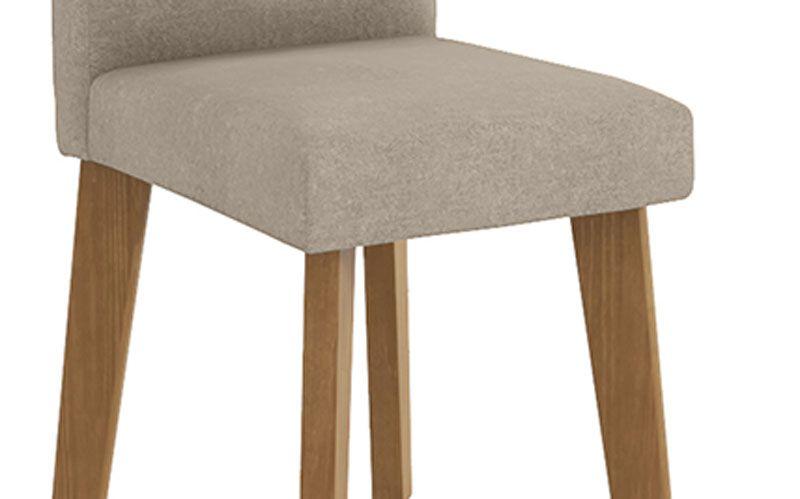 Mesa de Jantar Diamante com 6 Cadeiras Off White com Pena Caramelo - RV Móveis