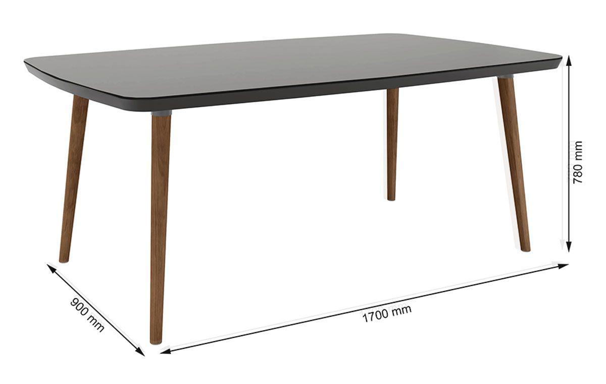 Mesa de Jantar Jade 6 lugares Black com Vidro - RV Móveis