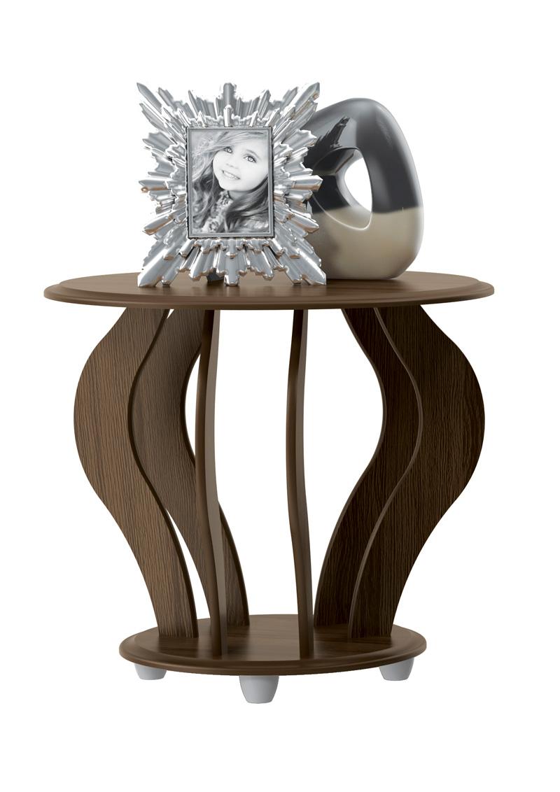 Mesa Lateral Cristal Amendoa - Patrimar Moveis