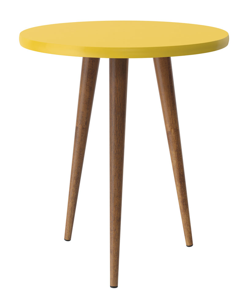 Mesa de Apoio Legs Amarelo - Patrimar Moveis