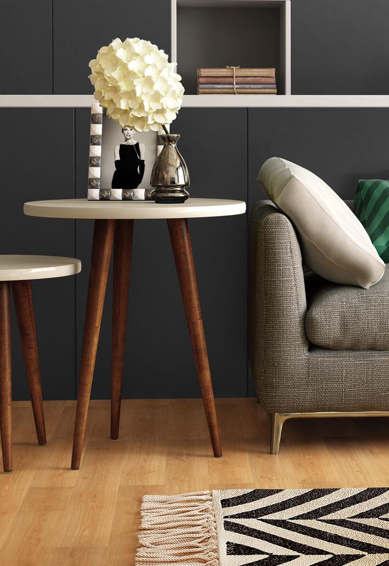Mesa de Apoio Legs Off White - Patrimar Móveis  - MoveisAqui - Loja de móveis online!