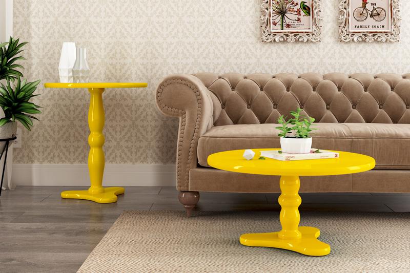 Mesa Lateral Intense Amarelo - Patrimar Móveis