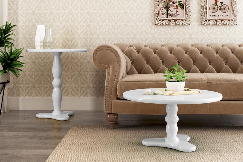 Mesa Lateral Intense Branco - Patrimar Móveis