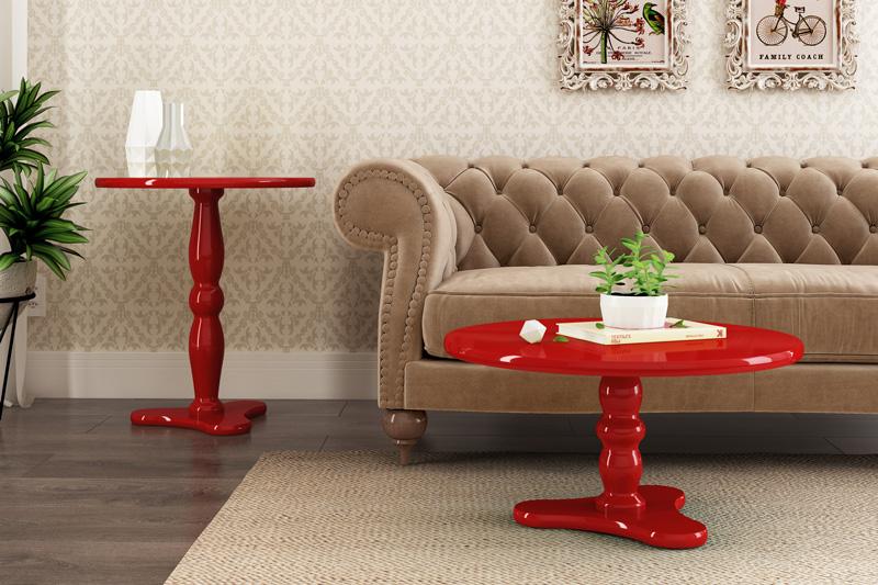 Mesa Lateral Intense Vermelho - Patrimar Móveis
