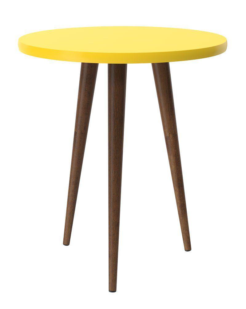 Mesa Lateral Legs Amarelo - Patrimar Móveis