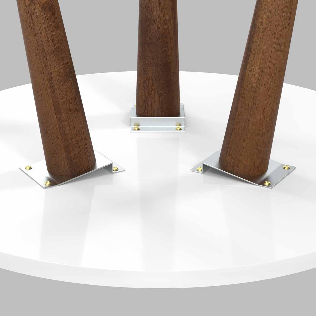 Mesa Lateral Legs Branco - Patrimar Móveis