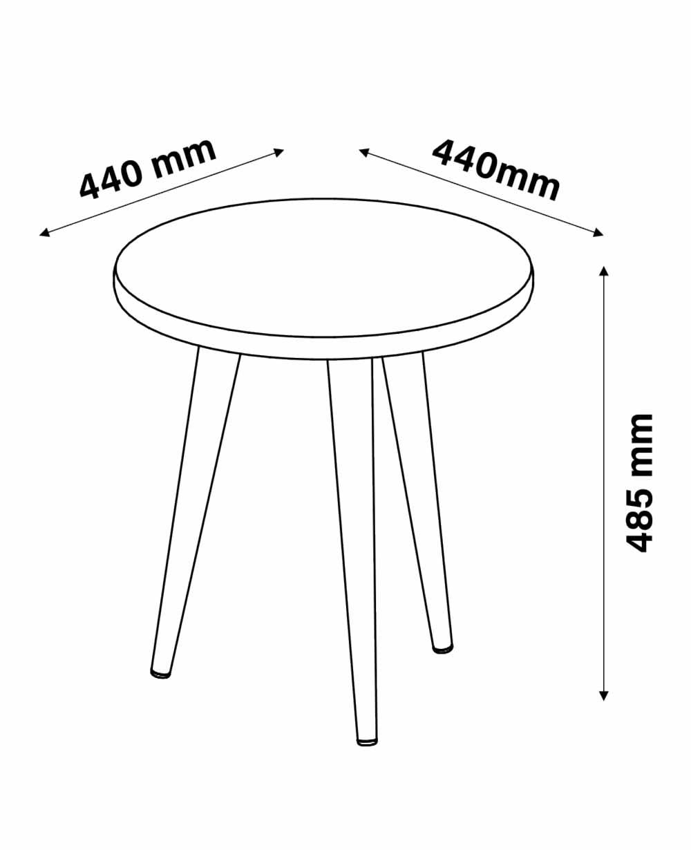 Mesa Lateral Legs Preto - Patrimar Móveis