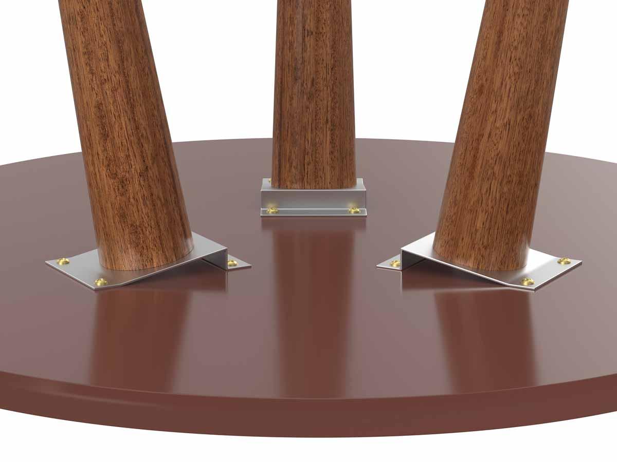 Mesa Lateral Legs Terracota - Patrimar Móveis