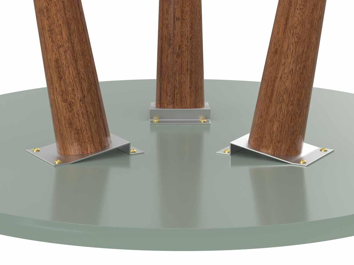 Mesa Lateral Legs Verde Bellagio - Patrimar Móveis