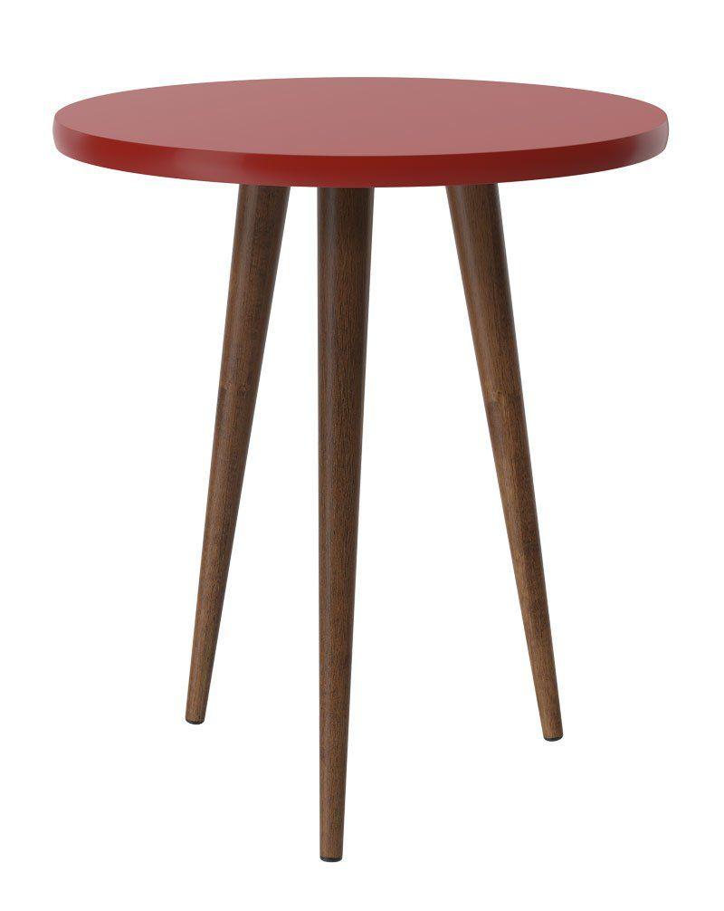 Mesa Lateral Legs Vermelho - Patrimar Móveis