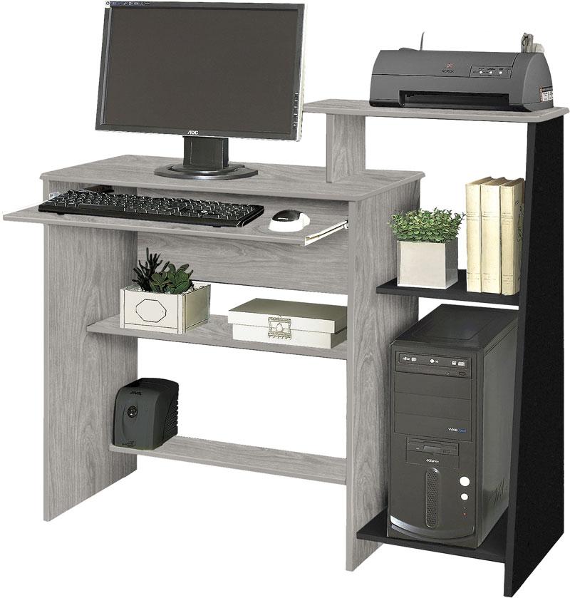 Mesa para Computador Austrália Carvalho com Preto - Móveis Primus  - MoveisAqui - Loja de móveis online!