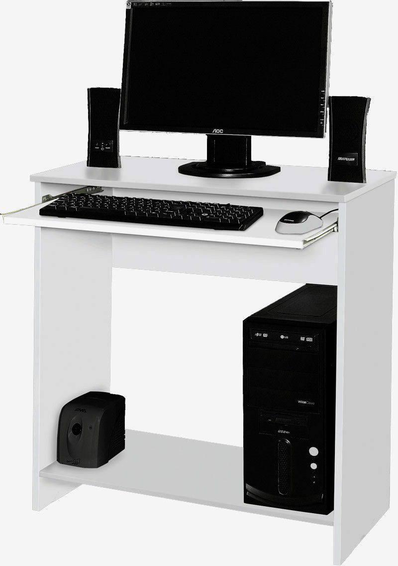 Mesa para Computador China Branco - Móveis Primus
