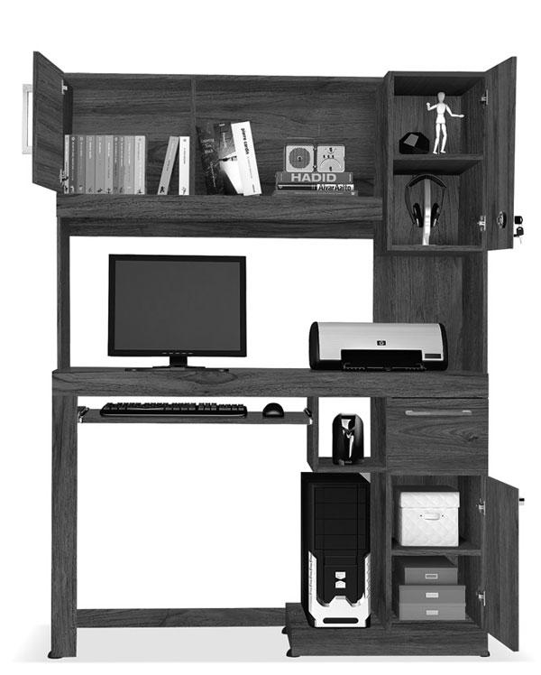 Mesa para Computador Everest Branco - Edn Móveis  - MoveisAqui - Loja de móveis online!