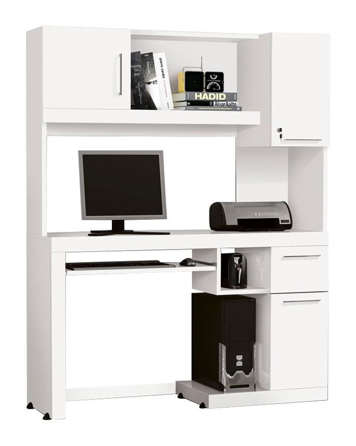 Mesa para Computador Everest Branco - Edn Móveis
