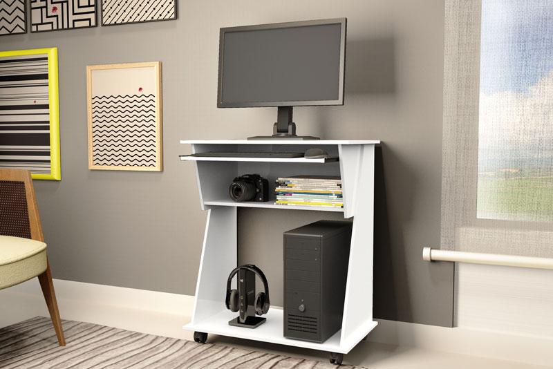 Mesa para Computador JB 6030 Branco - JB Bechara