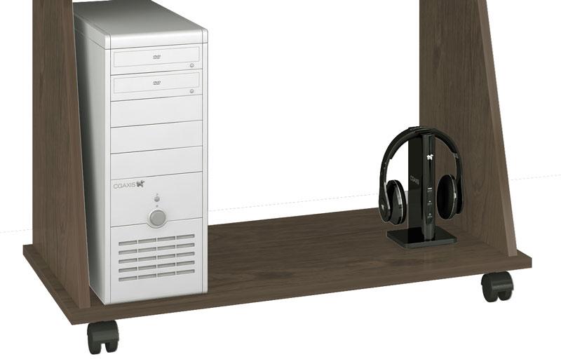 Mesa para Computador JB 6030 Teka com Preto - JB Bechara