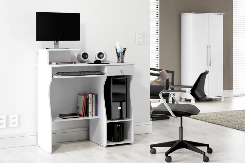 Mesa para Computador Marina Branco - Patrimar Moveis