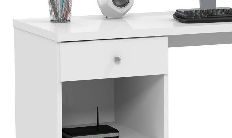 Mesa para Computador Million Branco - Patrimar Móveis
