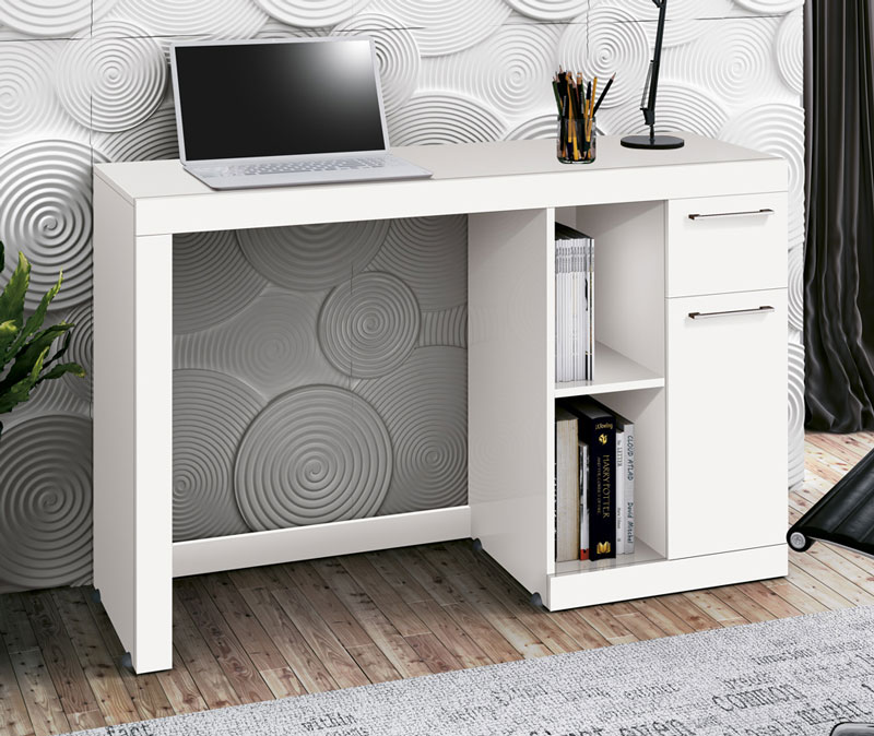 Mesa para Computador Office Doris Branco - Edn Móveis