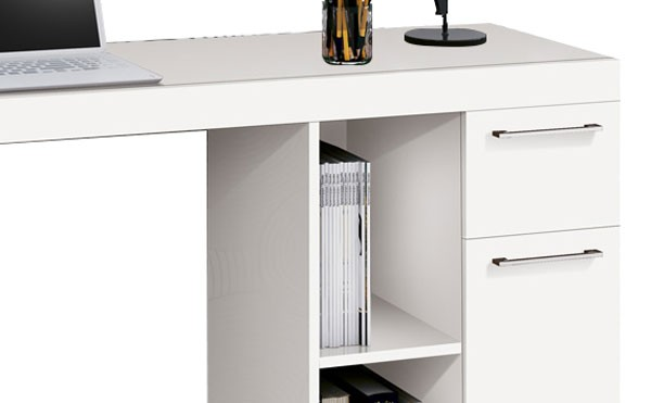Mesa para Computador Office Doris Branco - Edn Móveis  - MoveisAqui - Loja de móveis online!