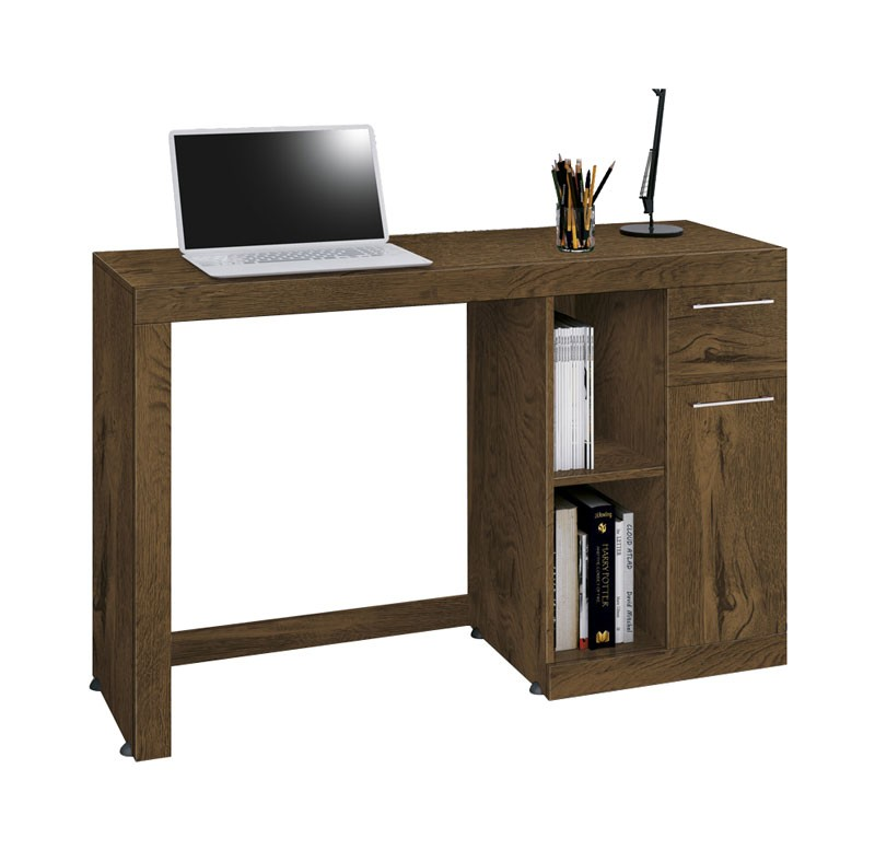 Mesa para Computador Office Doris Nogal Rustico - Edn Moveis