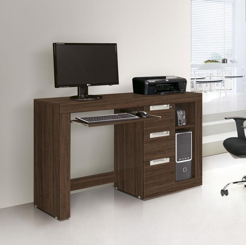 Mesa para Computador Valentina Castanho Toque - Edn Moveis