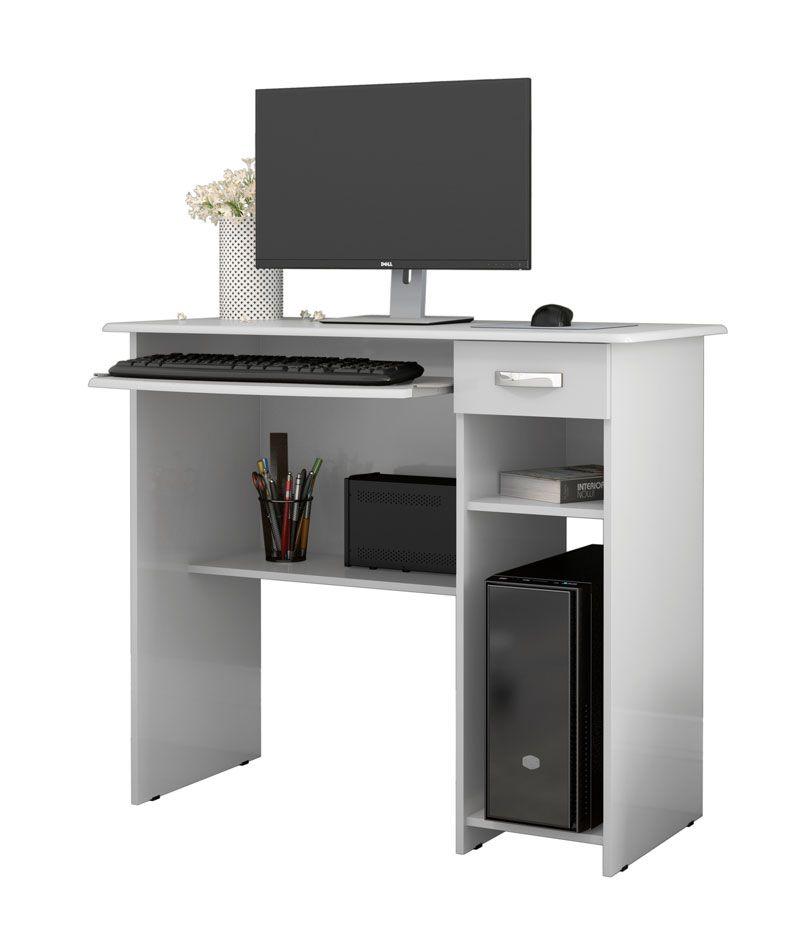 aab1ab5c5 Mesa para Computador Viena Branco - EJ Móveis - MoveisAqui - Loja de móveis  online!