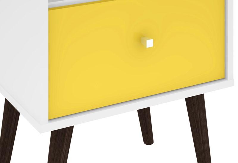 Modulo 450 MB 2014 Branco com Amarelo - Móveis Bechara