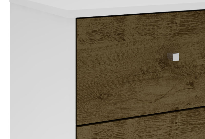 Modulo 450 MB 2015 Branco com Madeira Rústica - Móveis Bechara
