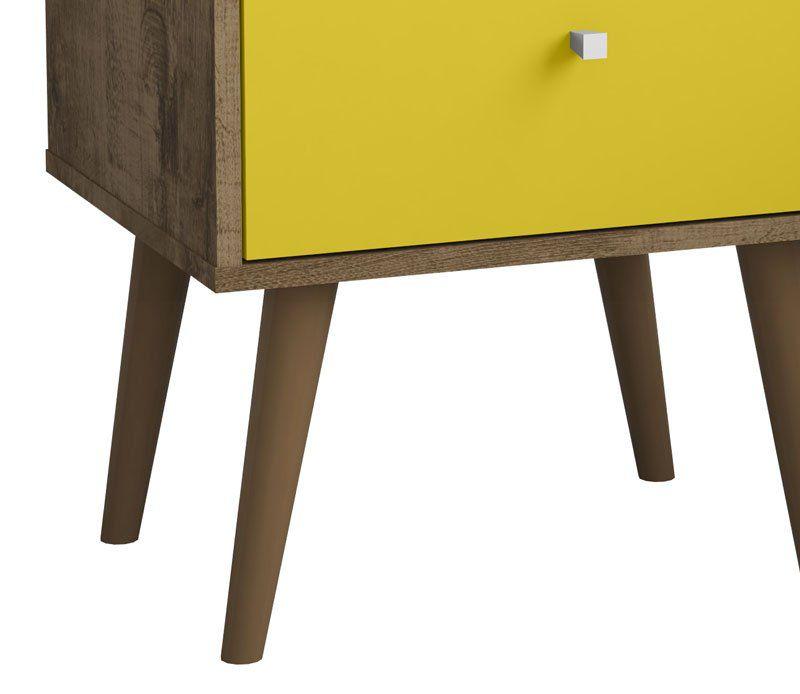 Modulo 450 MB 2014 Madeira Rústica com Amarelo - Móveis Bechara