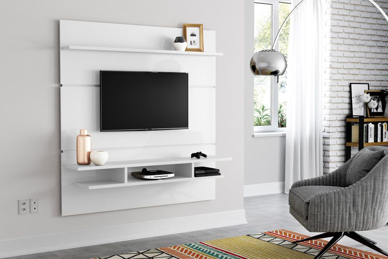 Painel para TV Adryan Branco - Patrimar Móveis