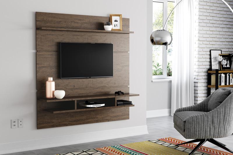 Painel para TV Adryan Imbuia - Patrimar Móveis  - MoveisAqui - Loja de móveis online!
