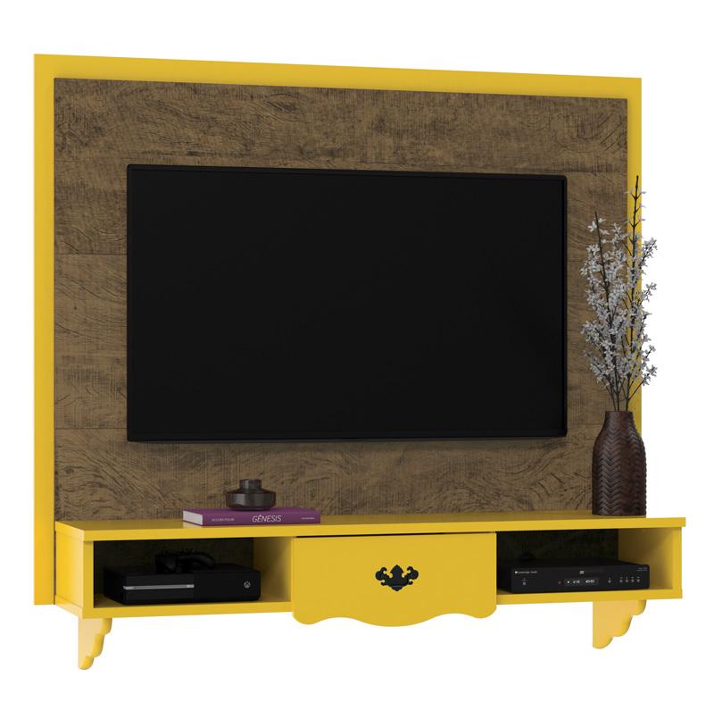 Painel para TV Athenas Demolição com Amarelo - Patrimar Móveis