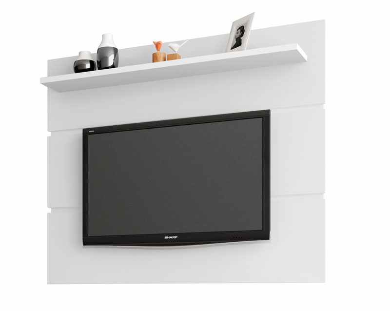 Painel para TV 1.3 Retrô Safira Branco - Móveis Bechara