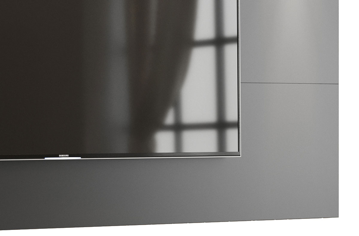 Painel para TV Aspen 1.8 Preto - MoveisAqui